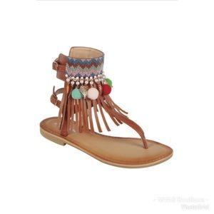 Tan Tribal Sandals